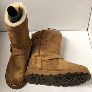 UGG Womens Noira Suede Winter BOOTS Sheepskin $120